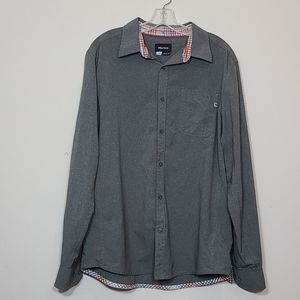 Marmot Casual Button Down Grey Mens Shirt Size L